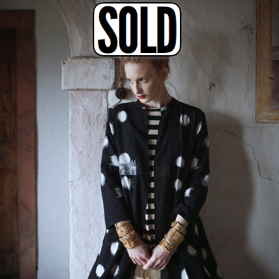 Architectural Ikat Coat